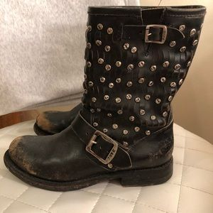 Studded Jenna Frye boots